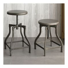 Need some barstools...love the vintage industrial look. Turner Barstools from Crate and Barrel.