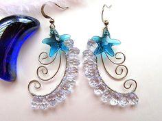 Swarovski Starfish Sterling Silver Earrings