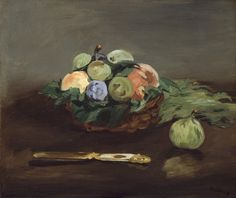 Edouard Manet Poster - Basket Of Fruit