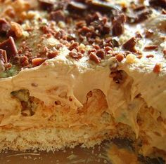 We have a variety of puddings and deserts that are part of the long list of South African Traditional cuisine and Peppermint Crisp Pudding / Tart is one of the best on there. Tart Recipes, Pudding Recipes, Dessert Recipes, Cooking Recipes, Vegetarian Cooking, Healthy Recipes, South African Desserts, South African Recipes, Africa Recipes