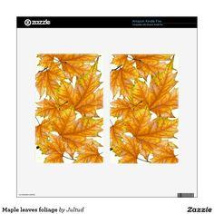 Maple leaves foliage kindle fire skins