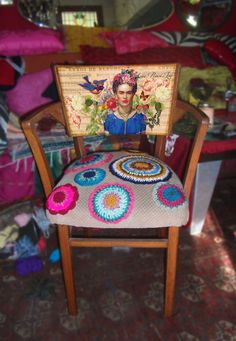 vintage chair- Frida Vintage Chairs, Wild Hearts, Furniture, Home Decor, Decoration Home, Room Decor, Home Furnishings, Home Interior Design, Home Decoration