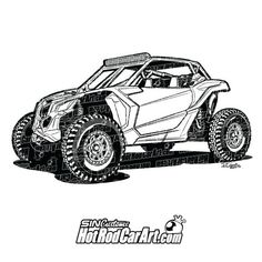 Automotive clip art illustration of 2017 Can-am Maverick Can Am, Cool Car Drawings, Shark Coloring Pages, Volkswagen Type 3, Dually Trucks, Dodge Trucks, Offroader, Car Museum, Ford Classic Cars