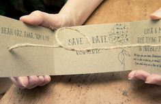 5 awesome DIY save the date ideas