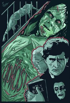 """""""I think the point is to make us despair. animal and ugly. """" The Exorcist fan poster is feeling a little green Fan Poster, Movie Poster Art, Horror Show, Horror Art, Horror Movie Posters, Horror Movies, Funny Horror, Film Posters, The Exorcist 1973"""
