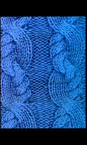 Knit stitch pattern - cable chart