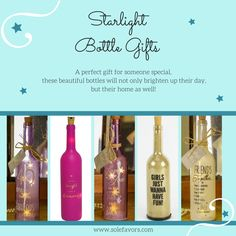 Looking for an unusual gift for someone special? Our Starlight Bottles are great for birthdays, Valentines, mother's day, house warming & Christmas...