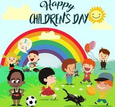 Happy Children's Day, Happy Kids, Kids Background, Happy Puppy, Child Day, Healthy Dog Treats, Cartoon Kids, Graphic Art, Vector Free