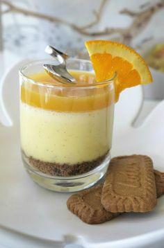 Guy Martin : Crémeux à la vanille Bourbon ,Spéculoos et Orange à la Coriandre