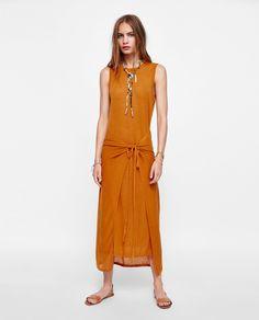 ZARA - WOMAN - KNIT DRESS WITH OVERLAY DETAIL