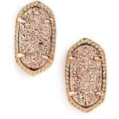 Kendra Scott 'Ellie' Oval Stone Stud Earrings ($43) ❤ liked on Polyvore featuring jewelry, earrings, accessories, 14k jewelry, druzy jewelry, 14k earrings, kendra scott jewelry and earrings jewelry