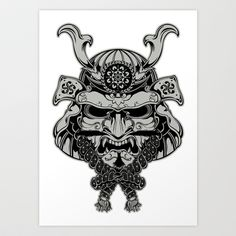 Samurai Art Print by digisinapparel - $19.76 | Love the detail! ♡