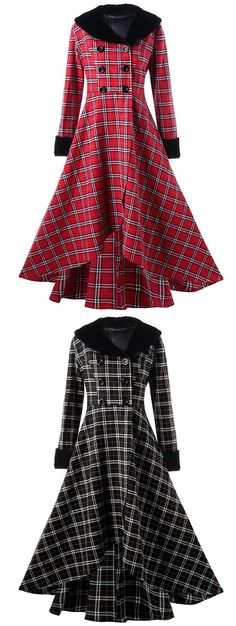 50% OFF Plaid Swing Coat