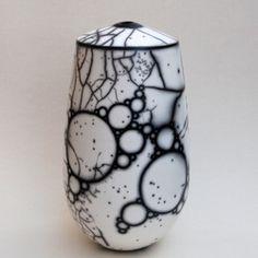 Alistair Danhieux- raku by stefanie Raku Pottery, Pottery Sculpture, Pottery Art, Ceramic Sculptures, Glass Ceramic, Ceramic Clay, Porcelain Ceramics, Painted Porcelain, Hand Painted