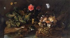 Still life with a snake, frogs, tortoise and lizard', Artist: Paolo Porpora Get premium, high resolution news photos at Getty Images Be Still, Still Life, Art Uk, Haiti, Heritage Image, Tortoise, Animals And Pets, Snake, Landscape