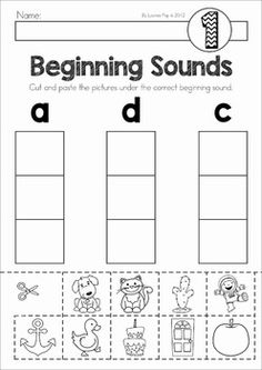 Beginning Sounds Word Work. Includes center activity and worksheets. Kindergarten Workbooks, Preschool Curriculum, Preschool Classroom, Preschool Worksheets, Preschool Learning, Preschool Phonics, Matter Worksheets, Kindergarten Prep, Alphabet Worksheets
