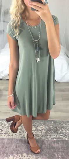 #summer #fashion / pastel green dress #casualsummeroutfits