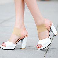 Women's+Shoes+Heel+Heels+/+Peep+Toe+/+Platform+Sandals+/+Heels+Outdoor+/+Dress+/+Casual+Blue+/+Red+/+Almond+–+USD+$+50.00