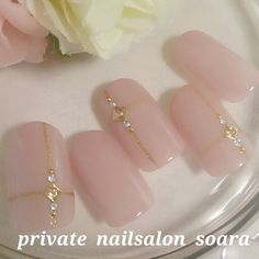 Pin by えびまる on ネイルデザイン Nails Only, Love Nails, Pink Nails, Pretty Nails, Colorful Nail Designs, Nail Art Designs, Office Nails, Asian Nails, Kawaii Nails