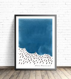 Abstract gouache and ink, blue panting print. Print sizes in inches are: 5 x 7, 8 x 10, 11 x 14, 12 x 16 16 x 20 Metric sizes from A5 to A2 available too. Please choose from drop-down menu or let me know if youd like other sizes.  Print size includes a white border of 1/4 inch in small sizes and 1 inch in larger sizes. Please let me know if you have different requirements.  The print will include signature. Frame is not included. ------- PROCESSING TIMES Please read carefully, specially ...