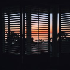 Ocean breeze and sunset view from my room at the