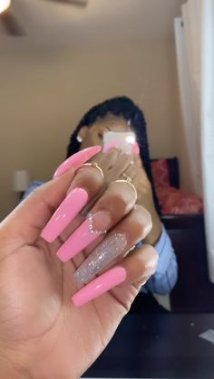 In search for some nail designs and ideas for your nails? Here is our set of must-try coffin acrylic nails for modern women. Long Square Acrylic Nails, Summer Acrylic Nails, Best Acrylic Nails, Acrylic Nail Designs, Dope Nail Designs, Summer Nails, Pink Acrylics, Aycrlic Nails, Swag Nails