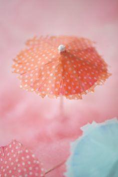 Washi Tape cocktail umbrellas