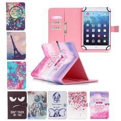 10.1'' Leather Universal case For Alcatel One Touch Pop 10 10 inch Tablet Cover Printed Tablet Stand cases+flim+pen
