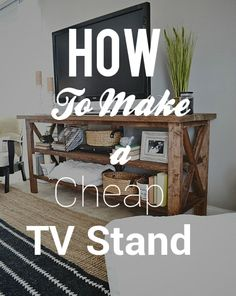 diy rustic tv console tables tv stand decor and. Black Bedroom Furniture Sets. Home Design Ideas
