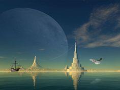 3d art fantasy artworks: modern 3d art fantasy sci-fi surrealism