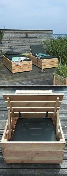 11 Super Cool DIY Backyard Furniture Projects • Lots of Ideas and Tutorials! Including, from 'homemade modern', this really cool diy log lounger made for only $30!