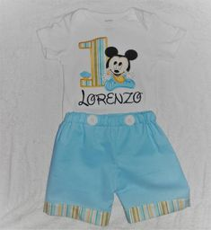 Baby Mickey Mouse First Birthday Outift 1bf6b5f365a