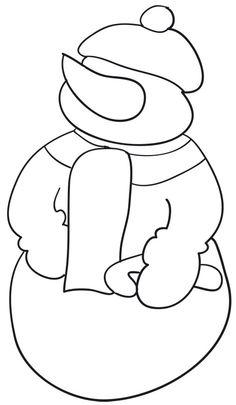 Comment dessiner un bonhomme de neige comment - Modele bonhomme de neige ...