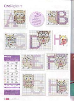 My Cross Stitch Gallery Cross Stitch Owl, Cross Stitch Letters, Cross Stitch Boards, Cross Stitch Animals, Cross Stitching, Cross Stitch Embroidery, Funny Cross Stitch Patterns, Cross Stitch Designs, Cross Stitch Gallery