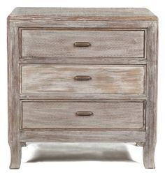 (http://www.zinhome.com/aria-3-drawer-night-stand/) 27W 16D 28H