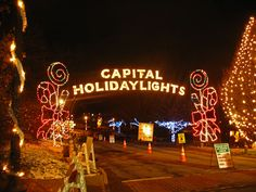 Go to the lights in the park