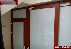 Cửa Nhựa Lõi Thép : Lắp đặt cửa nhựa lõi thép màu Gỗ Sồi đỏ giá rẻ nhấ...