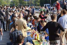 In Halle Neustadt fand am Samstagmorgen ein Willkommensfrühstück für Flüchtlinge und Asylbewerber statt.