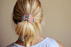 Seiba cuff looped ponytail.