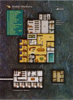 Bomb Shelter (970×1323); shadowrun, floorplan                                                                                                                                                     More