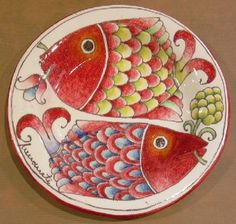 Innocenti Italian ceramics - we visited the place where this is made and were charmed. It's a small family-run operation with endless beautiful designs.