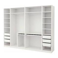 PAX Guardaroba, bianco - bianco - 300x58x236 cm - IKEA