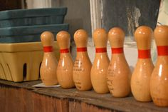 Loved duckpin bowling. These pins too small for that but cute.  Chartreuse & Co - Flickr