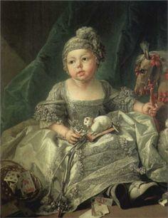 Portrait of Louis Philippe Joseph, Duke of Montpensier | oil painting of child with cat,  ca.1750 | François Boucher