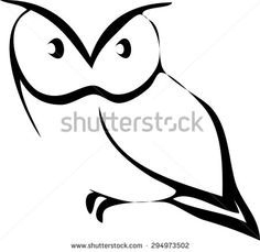 owl vector - stock vector