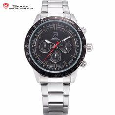 >> Click to Buy << Generation Nurse SHARK Sport Watch Black Dial 6 Hands Chronograph Full Steel Strap Waterproof Quartz Men Wrist Watches /SH283 #Affiliate
