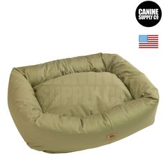 Bumper Bed with Organic Cotton + Basil Color Dog Beds - All Sizes