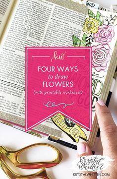 Four Ways to Draw Flowers