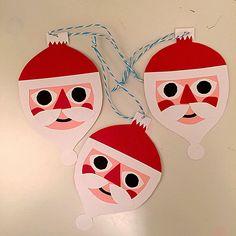 My stuff// DIY - Christmas - Santa - paper - decor - skidtogkanel