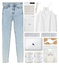 """acid washed jeans"" by itsfashioninfinity ❤ liked on Polyvore featuring Monki, Christy, NARS Cosmetics and Herbivore"